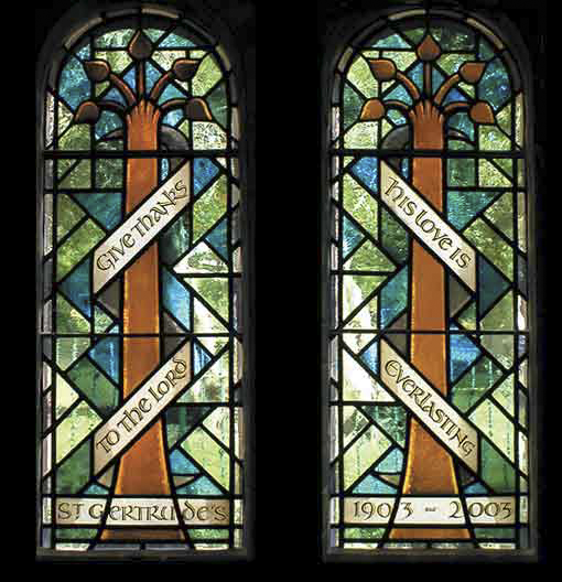 St Gertrude Church - Narthex windows